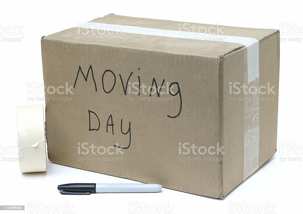 Moving Box and Supplies royalty-free stock photo