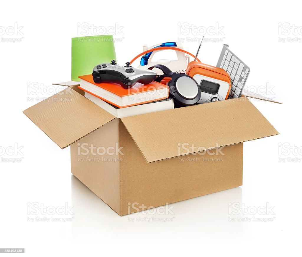 Moving box stock photo