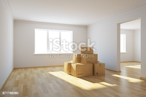 istock moving boxes at a new home 671786080