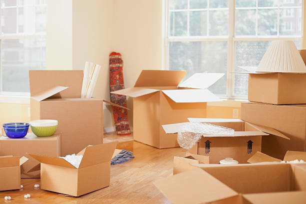 Moving Boxes stock photo