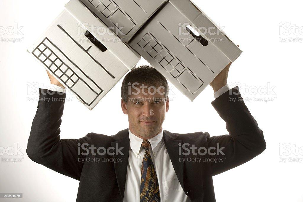 Déplacer de boîtes photo libre de droits