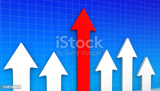 1014851396 istock photo Moving business arrows shows business success 1048184378
