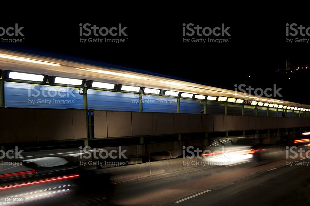 Moving cars royalty-free stock photo
