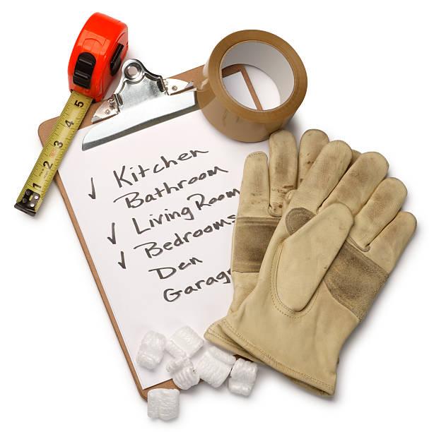moving-checkliste - umzug checkliste stock-fotos und bilder