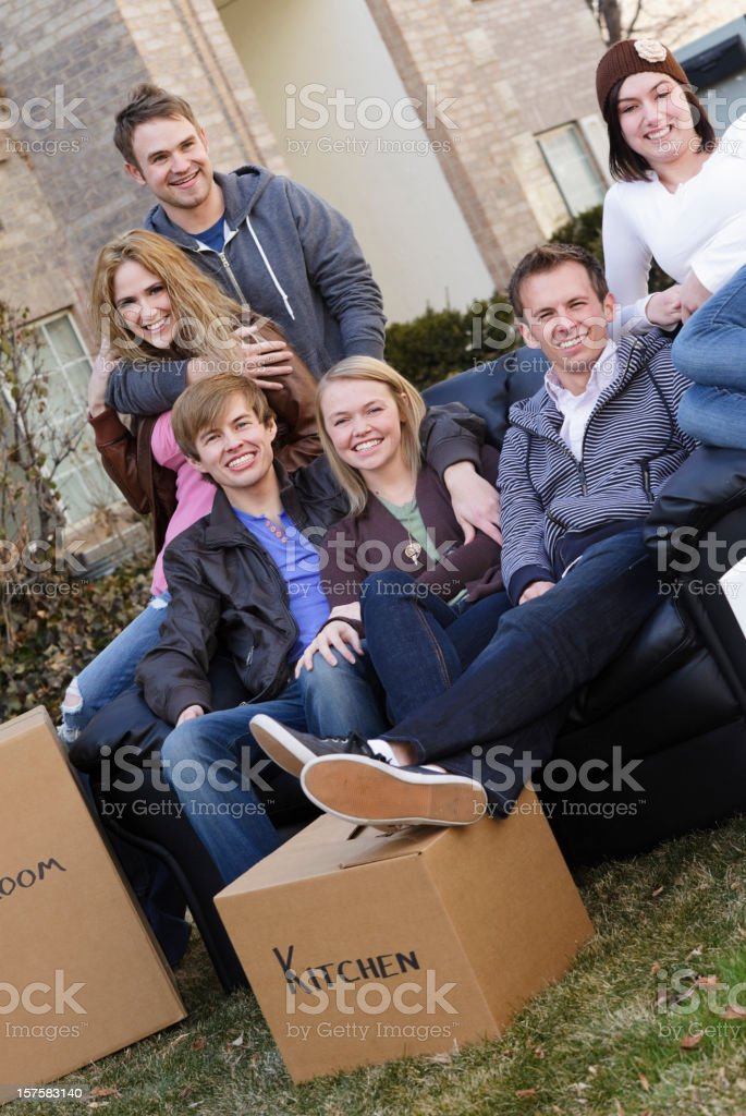 Moving Crew royalty-free stock photo