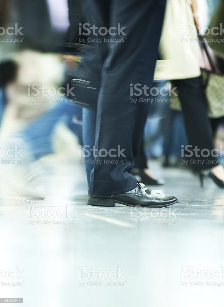 Moving crowd. motion blur royalty-free stock photo