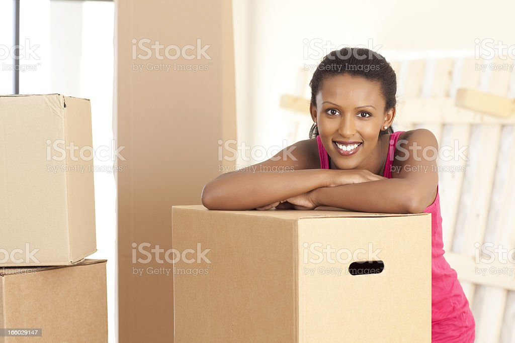 Moving day boxes. royalty-free stock photo