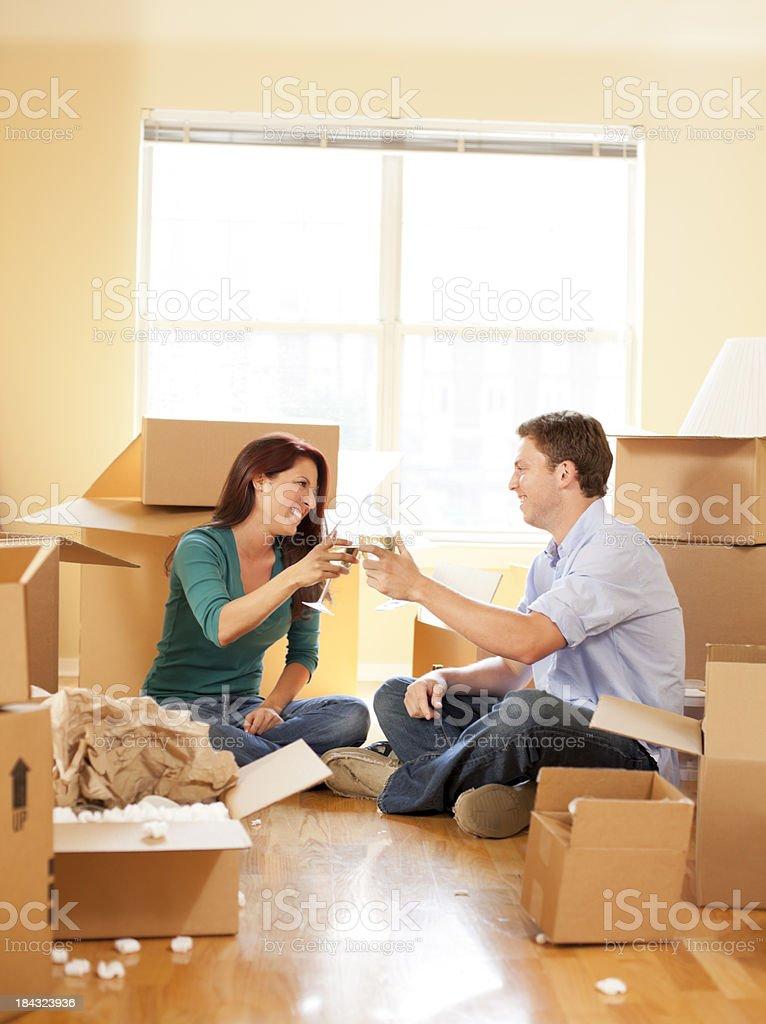 Moving Day Celebration royalty-free stock photo