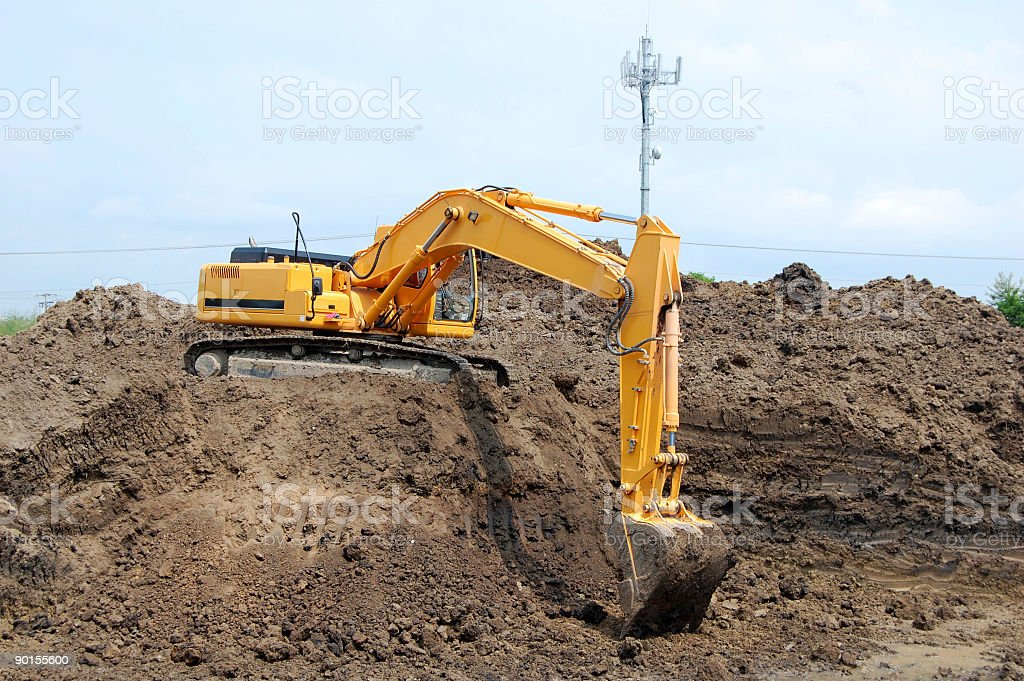 Moving Dirt royalty-free stock photo