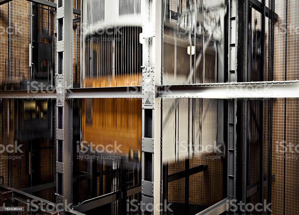 moving elevator royalty-free stock photo