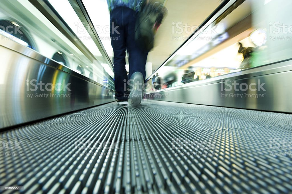 moving escalator royalty-free stock photo