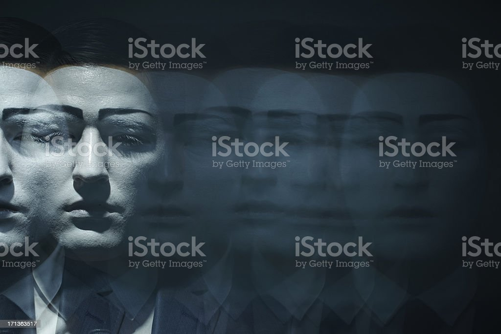 Moving face stock photo