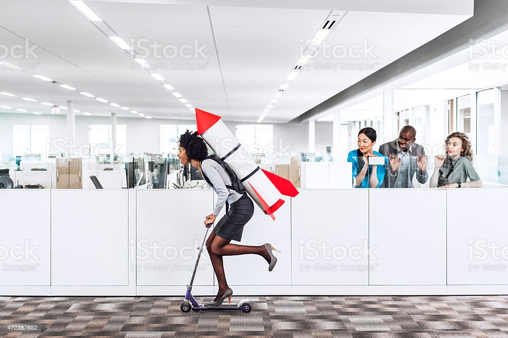 Moving forward stock photo