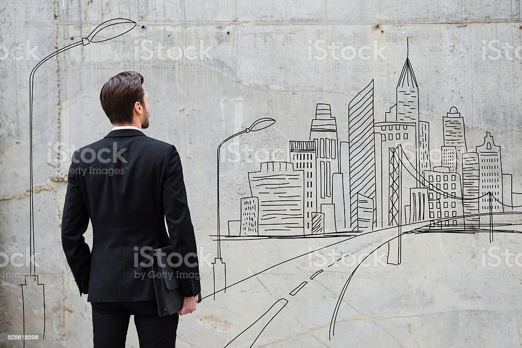 Moving forward. stock photo