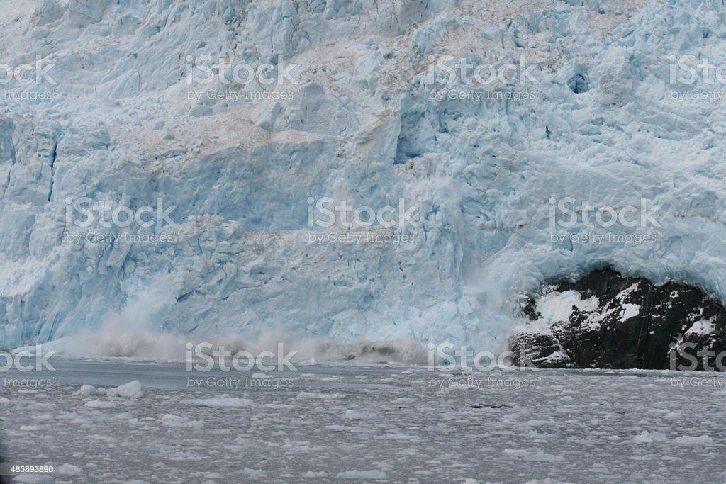 Moving Glacier Part stock photo