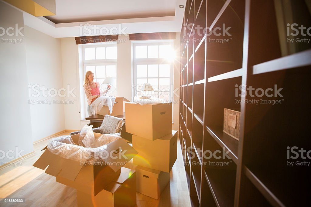 Moving home stock photo