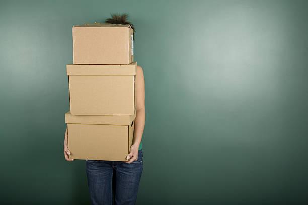 Moving House stock photo