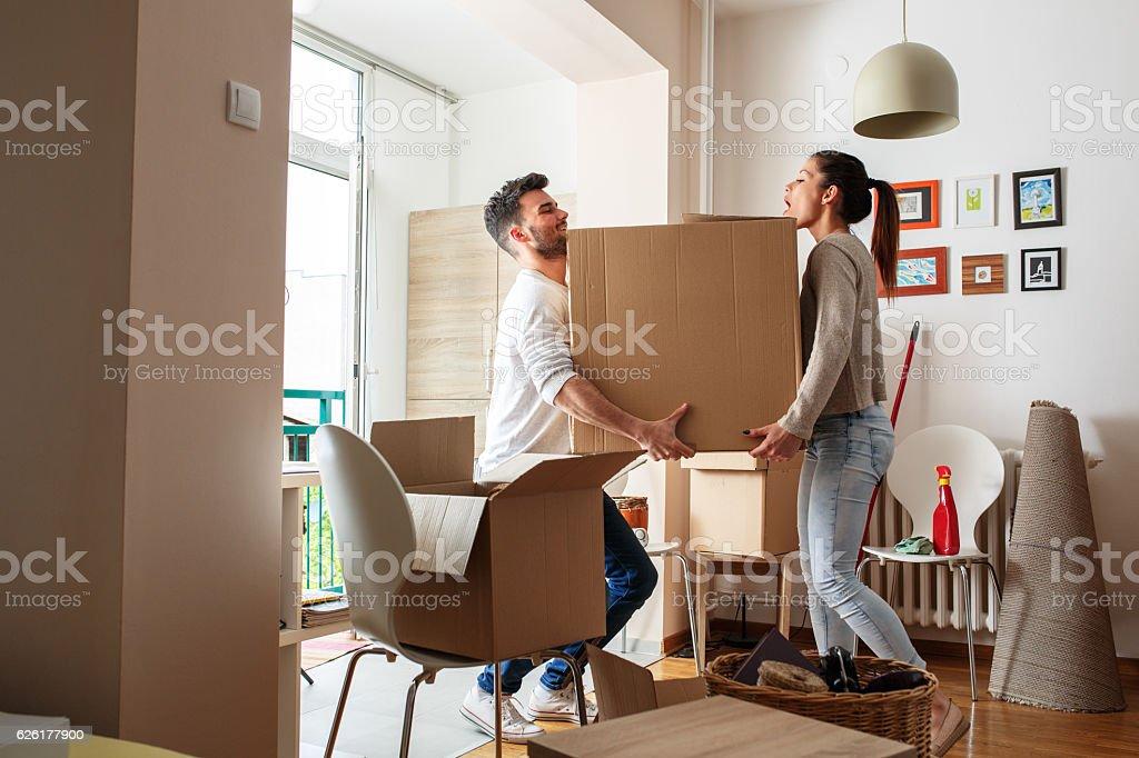 Changement de logement photo libre de droits
