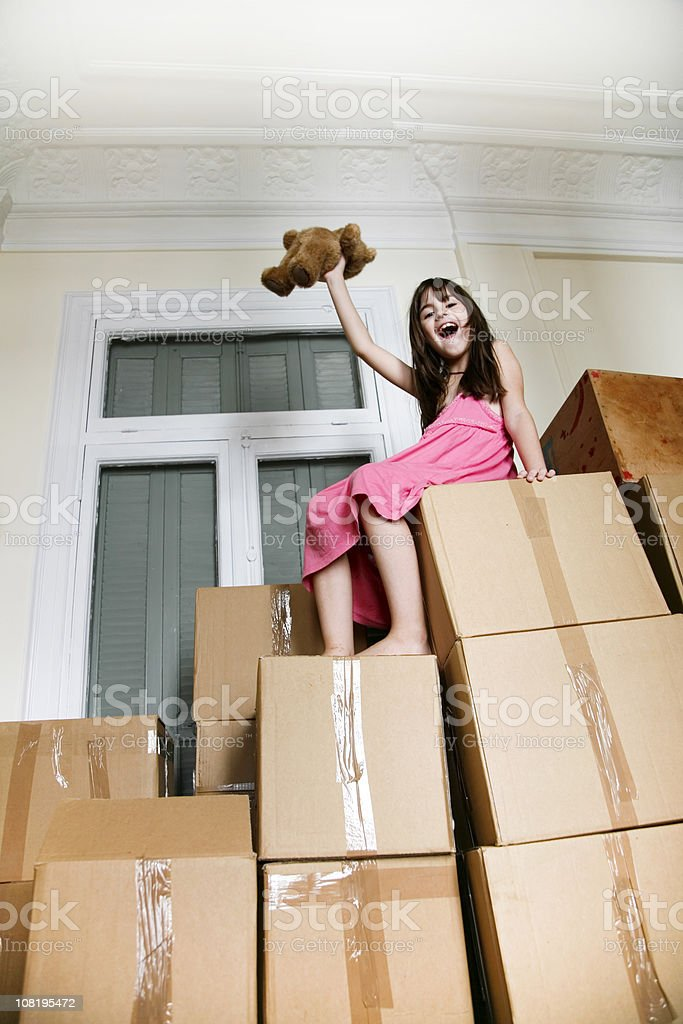 Moving in a new house royalty-free stock photo