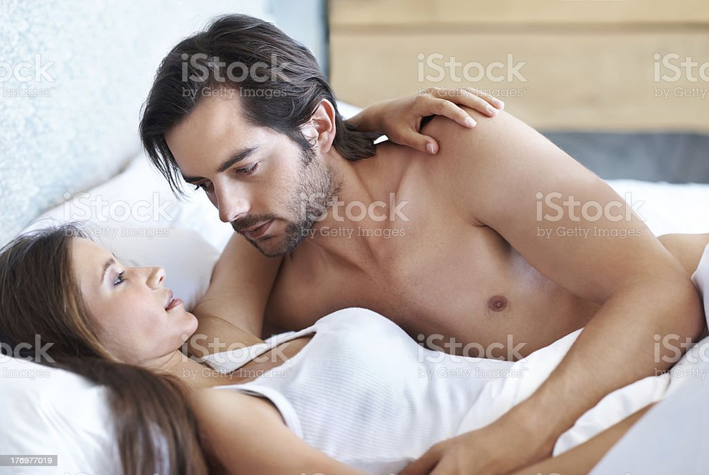 Moving in for the kiss royalty-free stock photo