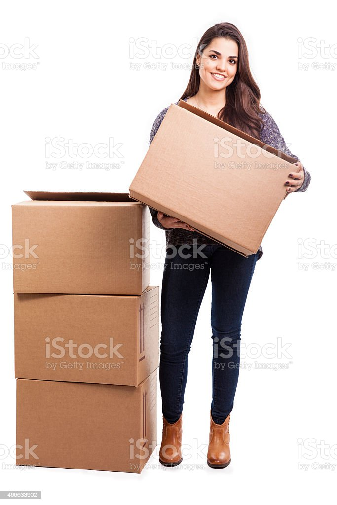 Moving into my new home stock photo