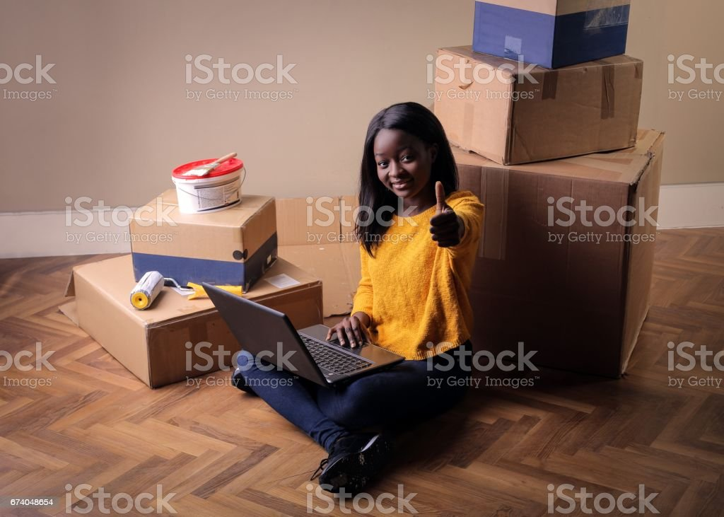 Moving into my new home royalty-free stock photo