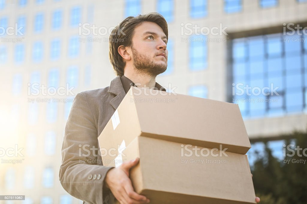 Moving into new office stock photo