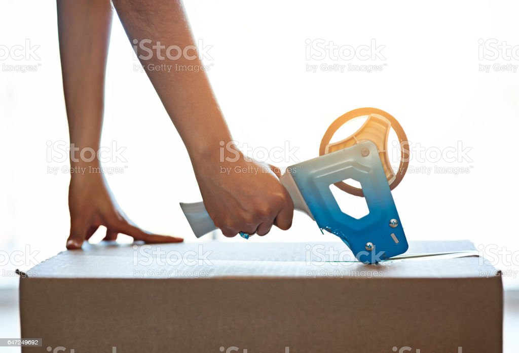 Moving is easy when you have the right tools stock photo