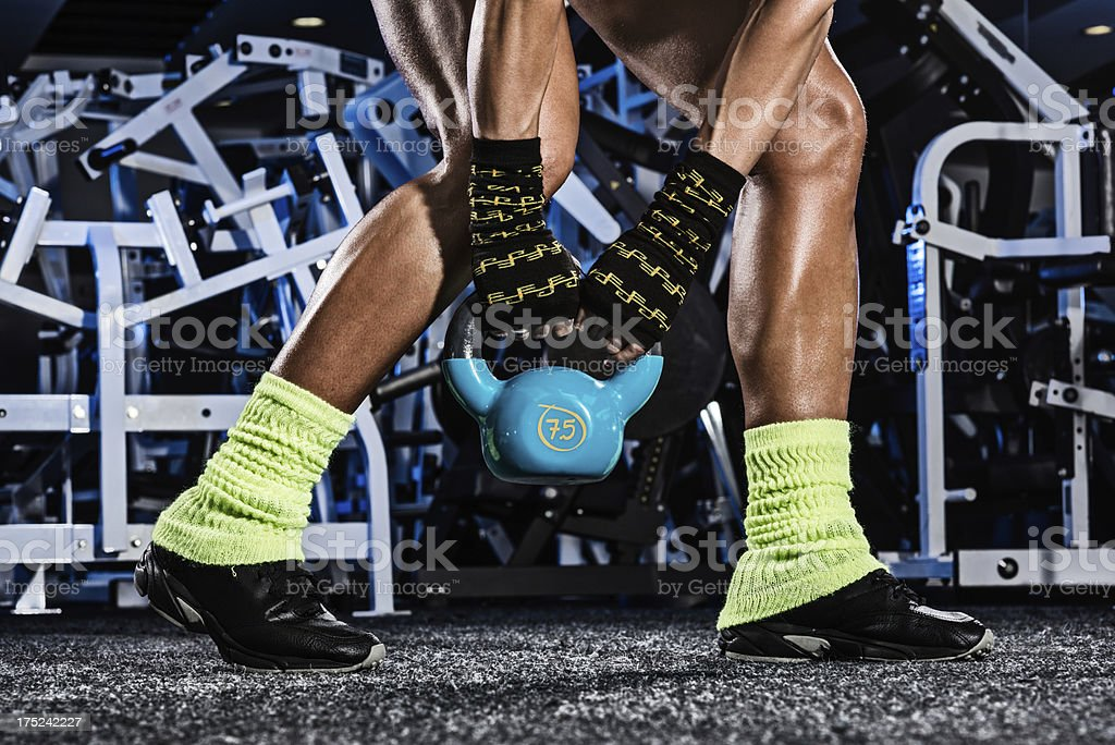 Moving kettlebell royalty-free stock photo