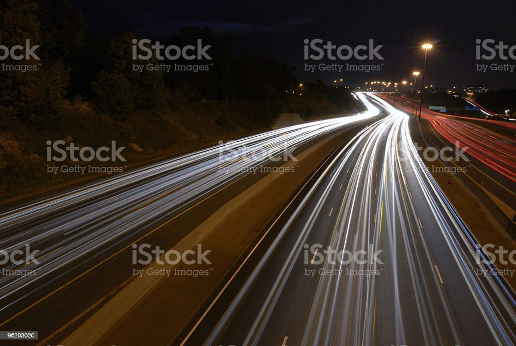 Moving Lights royalty-free stock photo