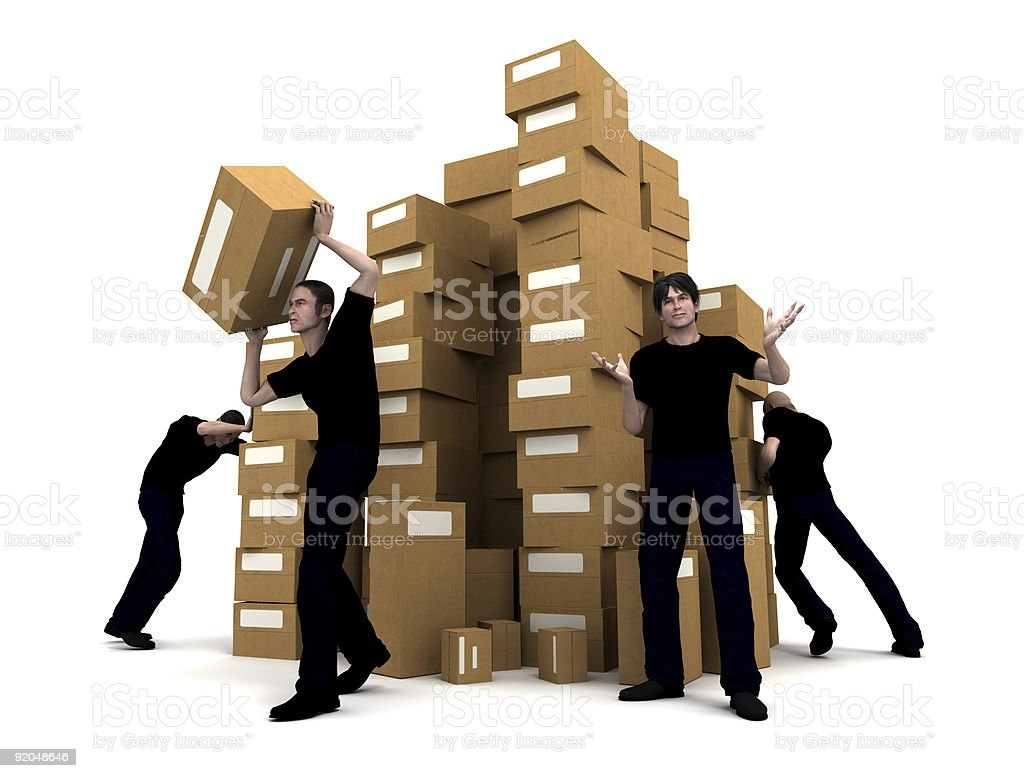 Moving men stock photo