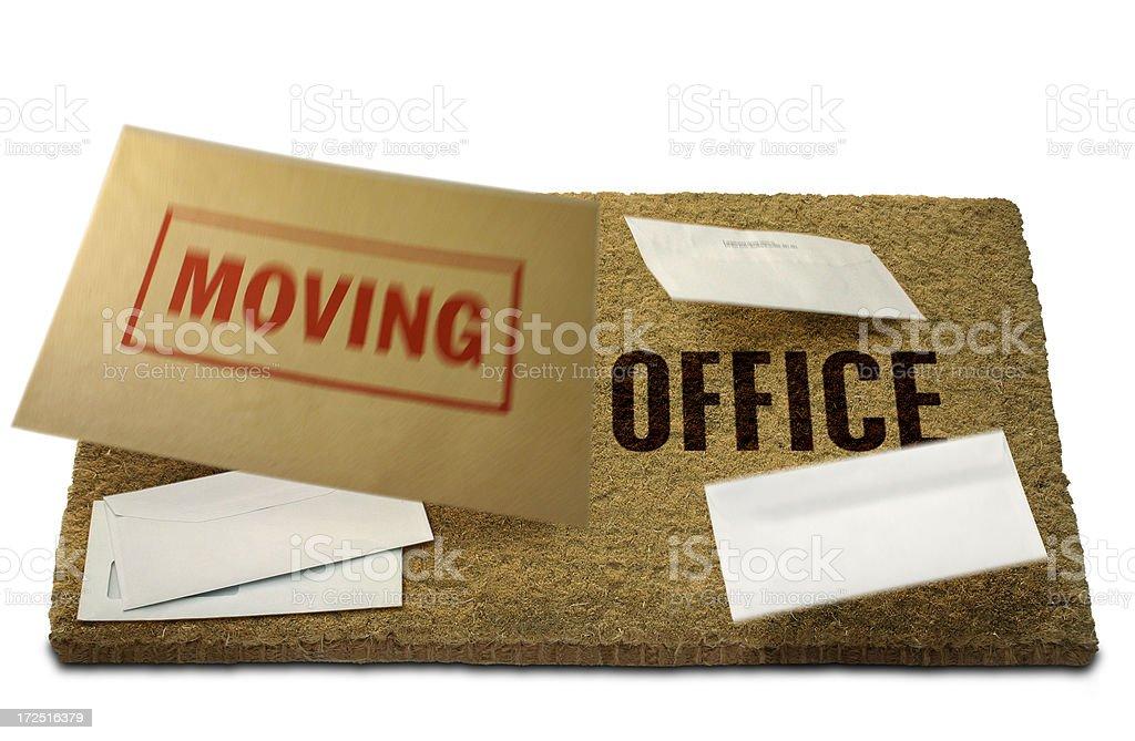 Moving Office Doormat stock photo