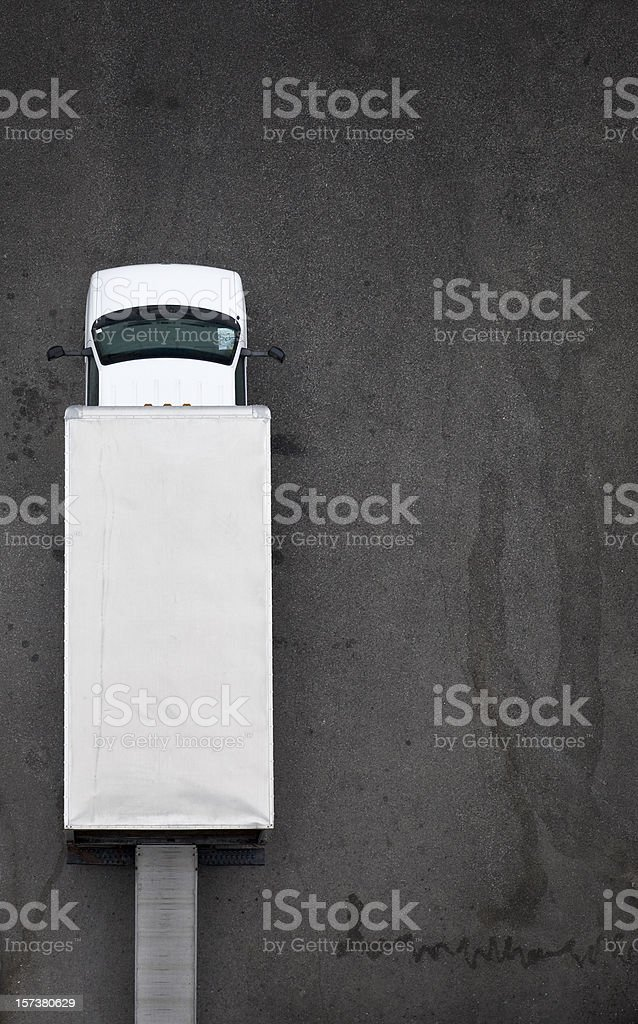 Moving or Delivery Van from above stock photo