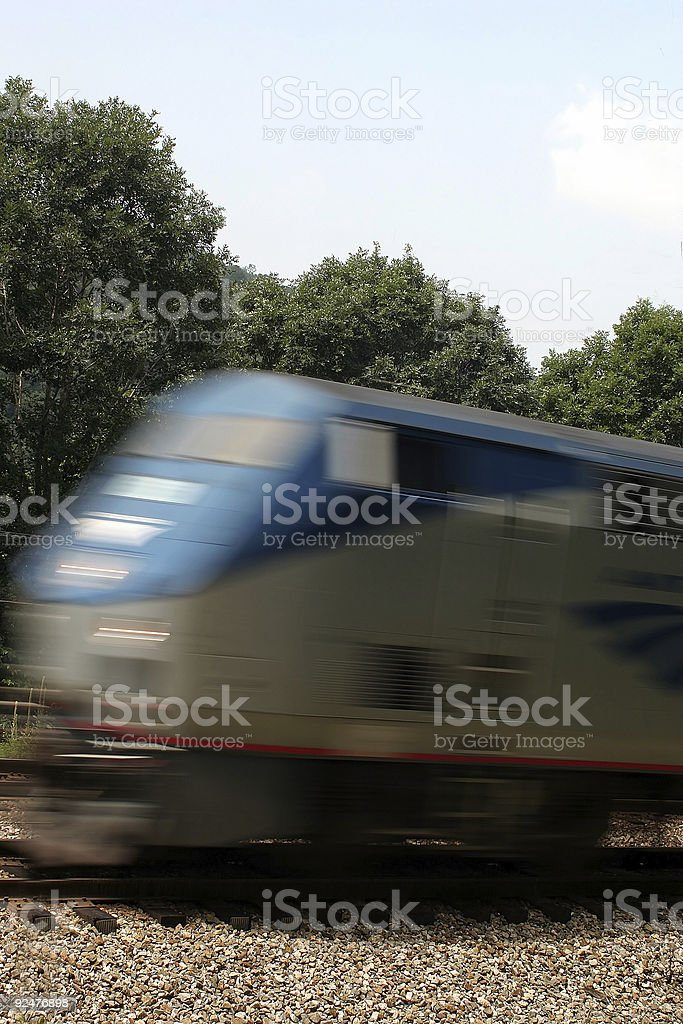 Moving Passagierzug Lizenzfreies stock-foto