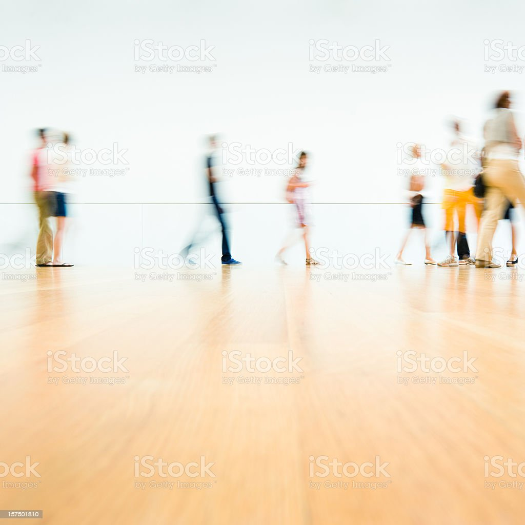 Moving People in New York City royalty-free stock photo