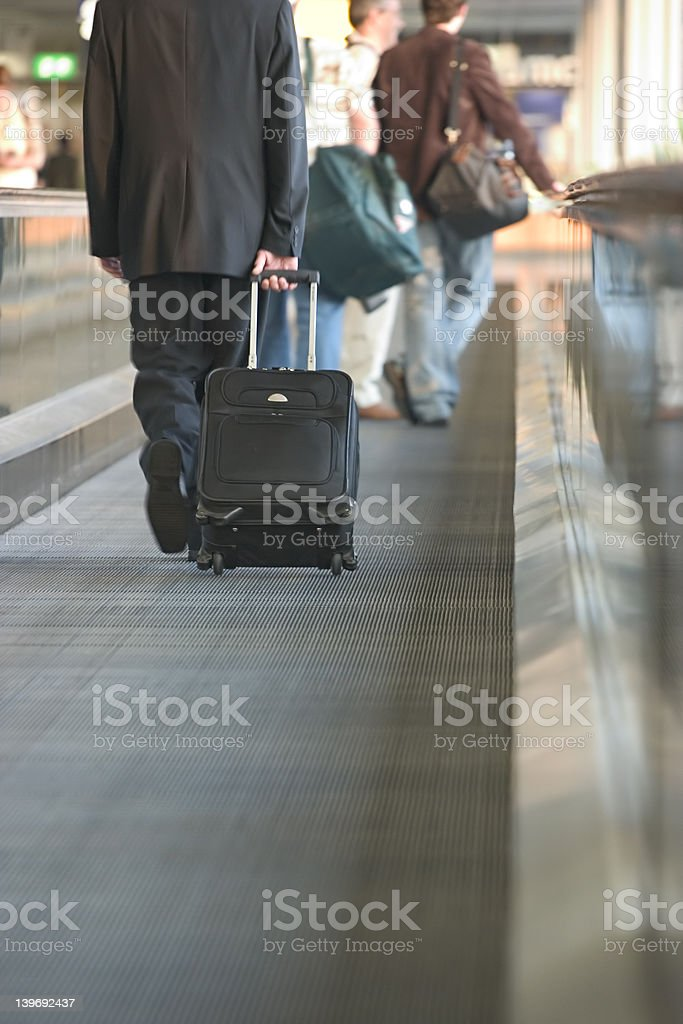 Moving sidewalk royalty-free stock photo