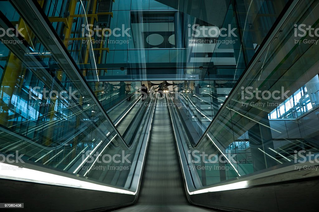 moving staircase royalty-free stock photo