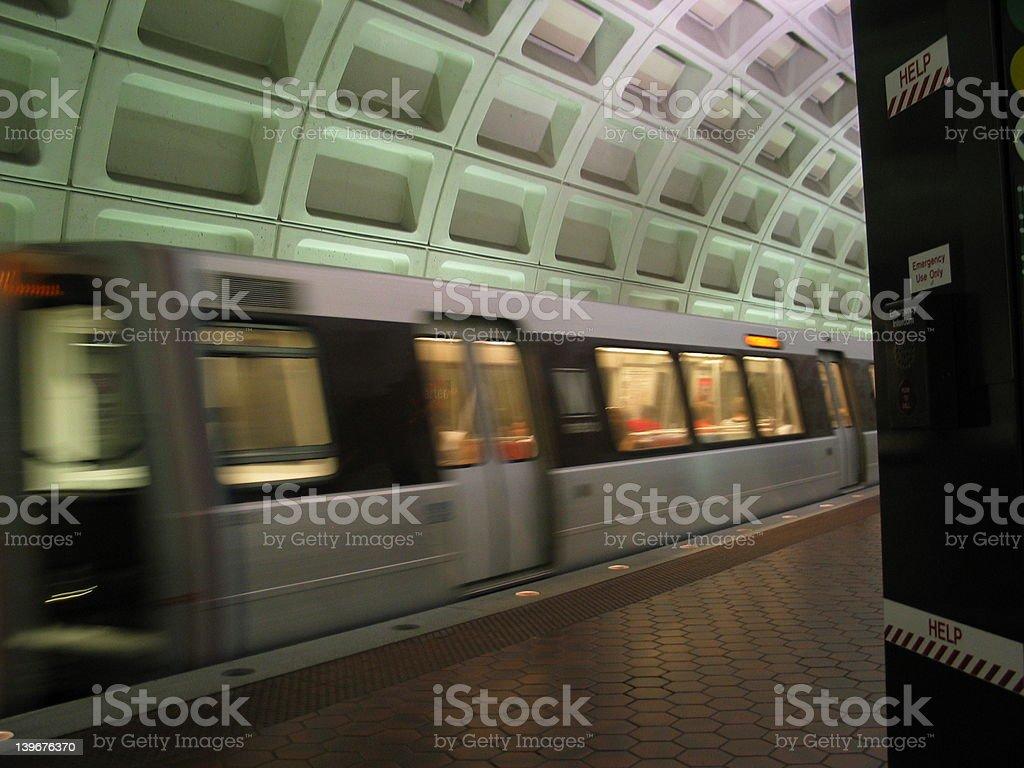 moving subway stock photo