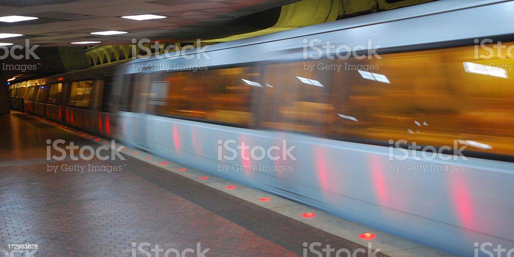 Moving Subway Training stock photo