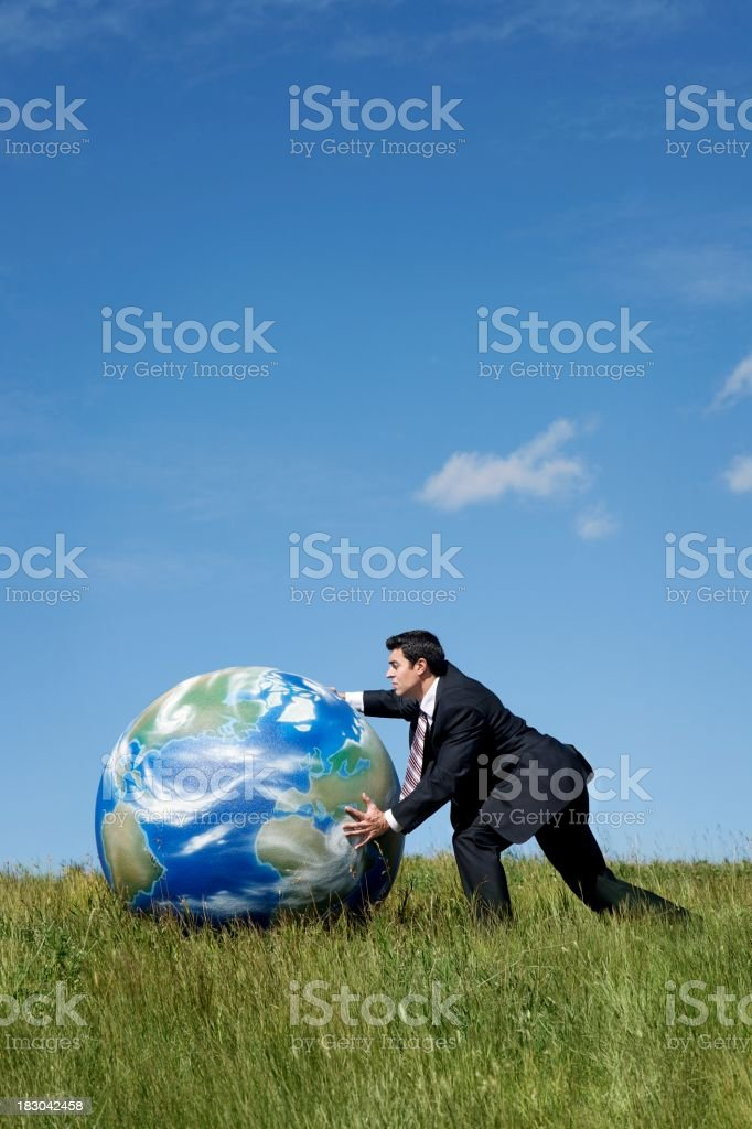 Moving the Earth stock photo