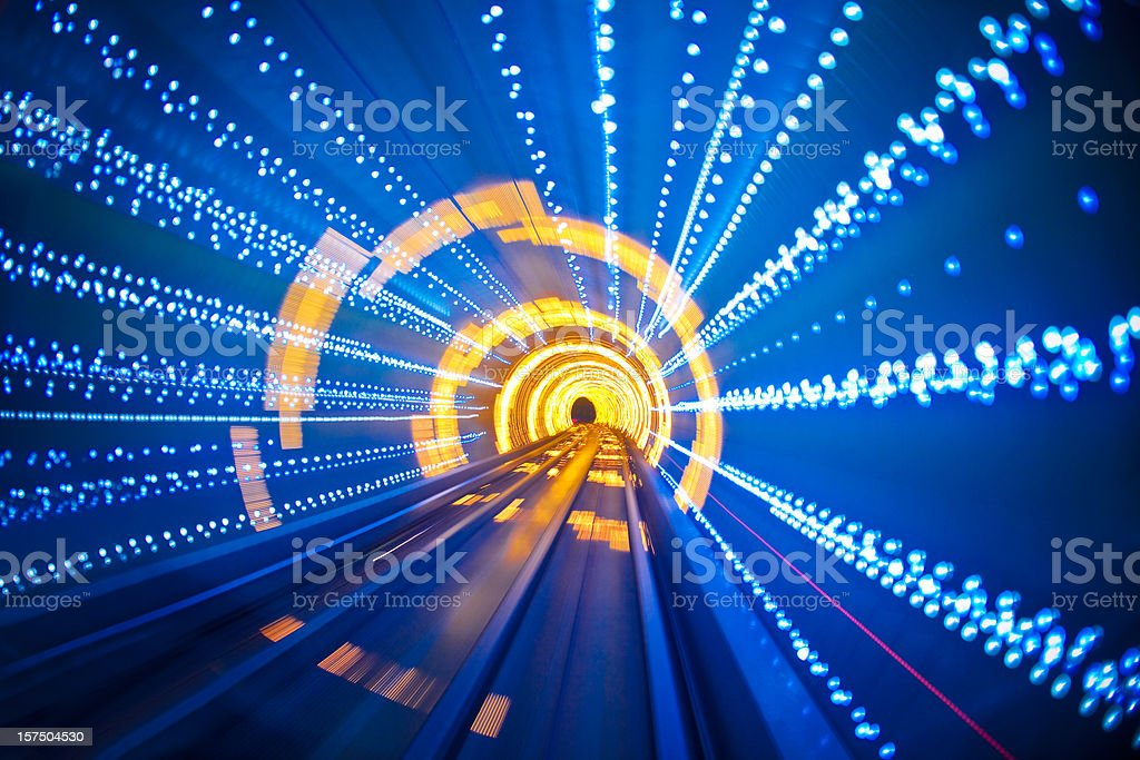moving through the tunnel royalty-free stock photo