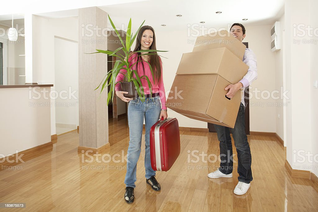 Moving to a new apartment concept royalty-free stock photo