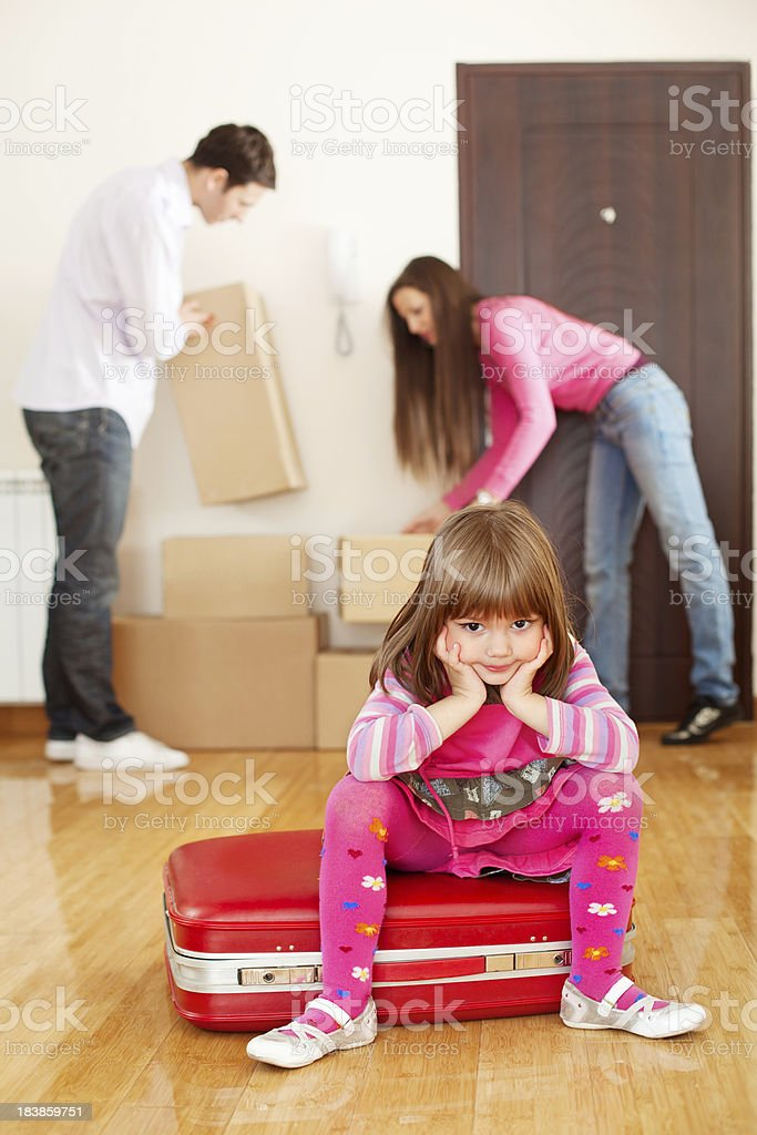 Moving to a new apartment royalty-free stock photo