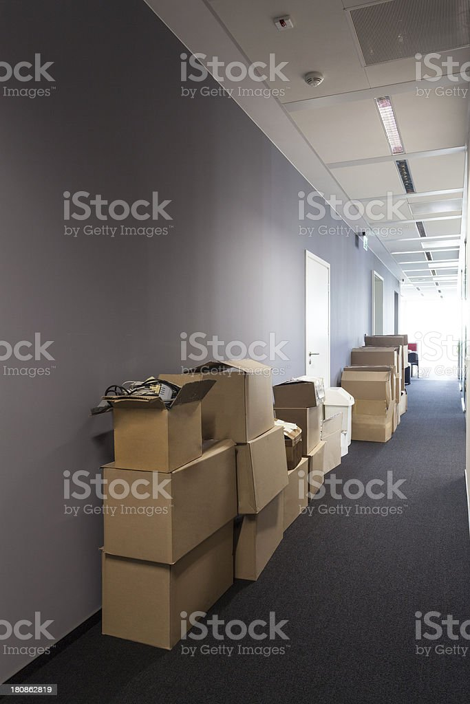 Moving to new house royalty-free stock photo