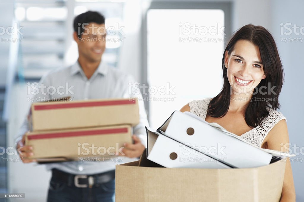 Moving to new office royalty-free stock photo