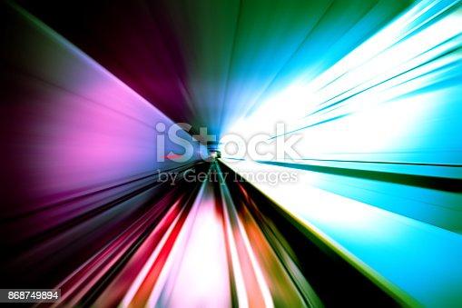 824108398istockphoto moving traffic light trails at night 868749894