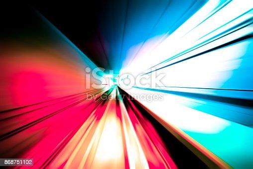 istock moving traffic light trails at night 868751102