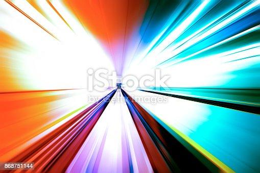 istock moving traffic light trails at night 868751144
