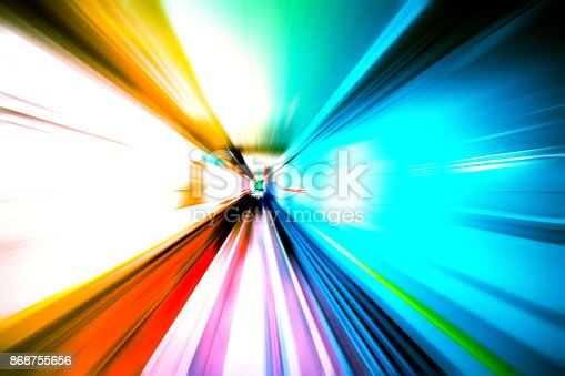 istock moving traffic light trails at night 868755656