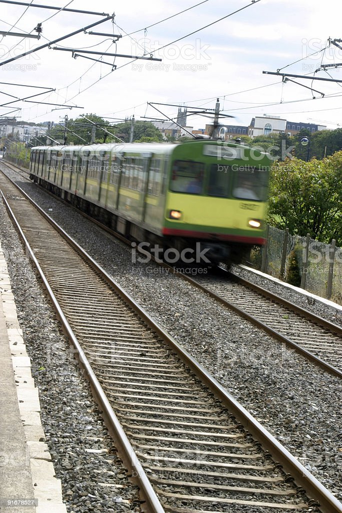 Moving Train royalty-free stock photo